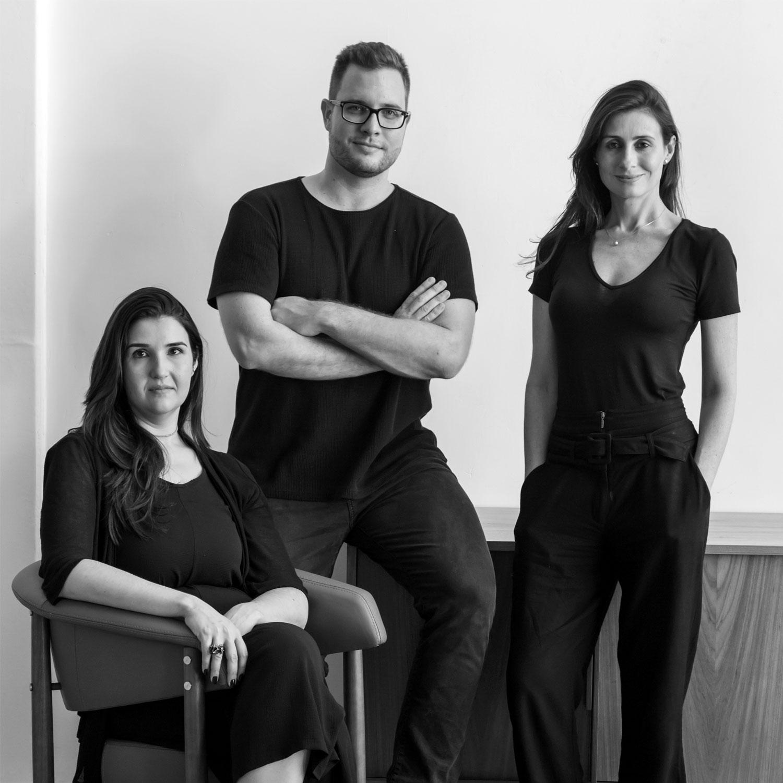 Laís Adib, João Pedro Crescente and Raquel Zaffalon